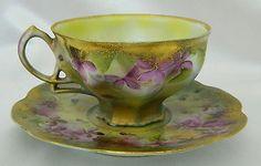 RARE Nippon 1891 1921 Hand Painted Floral Tea Cup Amp Saucer Set | eBay