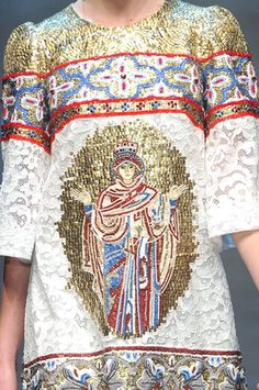 WONDERFUL BYZANTINE SICILIAN MOSAICS INTO DOLCE & GABBANA A/W 2013/14 COLLECTION #byzantium