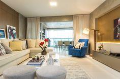 Apartamento de 260 m² com decoração casual e áreas integradas