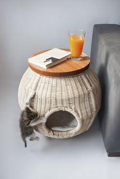 In the Cat House | under the blanket.Pet Basket. . #Basket #Wicker Basket #Pet Basket # Cat Basket #Dog Basket