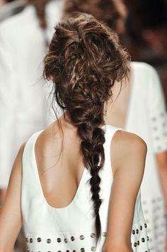 Long braid over Rachel Zoe//