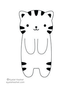 coloring pages - How to make DIY kawaii bookmarks Ayelet Keshet Cute Bookmarks, Bookmark Craft, Corner Bookmarks, Crochet Bookmarks, Printable Bookmarks, Handmade Bookmarks, Paper Bookmarks, Cat Crafts, Paper Crafts