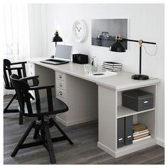 I love this wonderful home office ikea Design Room, Home Design, Table Design, Design Ideas, Design Inspiration, Guest Room Office, Home Office Space, Home Office Desks, Home Office Furniture Ideas