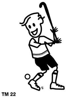 Hockey Boy Family Car Sticker