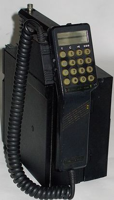 Old-School Mobile Phones (weighed 11 pounds!)