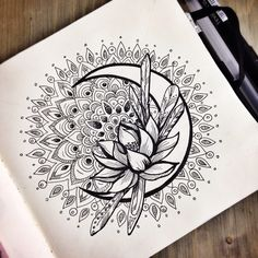 Sailor moon tattoo idea. Instead of the flower it would be the silver crystal and other small changes.