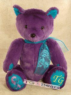 Handmade teddy bear raising Chiari Malformations awareness