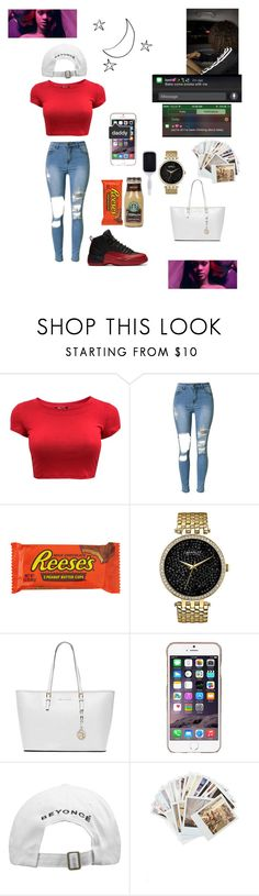 """""""Like you'll never see me again --Alicia Keys"""" by fashionparadiseee ❤ liked on Polyvore featuring Caravelle by Bulova, MICHAEL Michael Kors, Agent 18, Chronicle Books and Sephora Collection"""