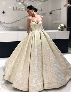 Find unique, vintage and handmade Best Ball Gown Spaghetti Straps Sleeveless Ivory Long Prom Dress Events in sevengrils Ball Gown Spaghetti Straps Sleeveless Ivory Long Prom Dress Evening Dresses, Prom Dresses, Formal Dresses, Wedding Dresses, Dress Prom, Gown Wedding, Quinceanera Dresses, Long Dresses, Elegant Dresses