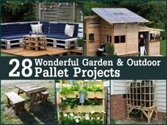 28 Wonderful Garden Outdoor Pallet Projects | DIY Tag
