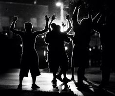 "Ferguson Missouri Protesters "" Hands up!!! Don't Shoot!!!!! NO JUSTICE........"
