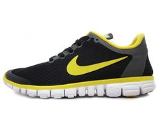Nike Free 3.0 V2 Black Yellow Running Shoes