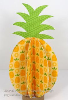 What better way to introduce you to th e new Fruit Stand Collection then show you what one of our Design Team girls, Amanda created with it. Cute Crafts, Diy And Crafts, Crafts For Kids, Arts And Crafts, Origami, Diy Paper, Paper Crafts, Paper Fruit, Fruit Crafts