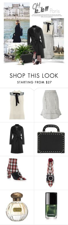 """Paris Is Always A Good Idea"" by thewondersoffashion ❤ liked on Polyvore featuring Miu Miu, Alexander Wang, Boutique Moschino, Bertoni, Oscar Tiye, Tocca, Chanel and Chan Luu"