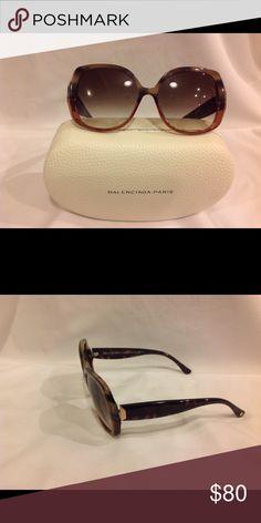 b3d7da08c6ff Shop Women s Balenciaga Brown Tan size OS Sunglasses at a discounted price  at Poshmark. Description  Beautiful Brand new
