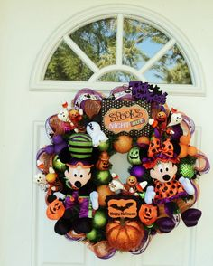 Disney Halloween Wreath Mickey Mouse. It's about more than golfing,  boating,  and beaches;  it's about a lifestyle! www.PamelaKemper.com KW homes for sale in Anna Maria island Long Boat Key Siesta Key Bradenton Lakewood Ranch Parrish Sarasota Manatee