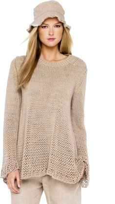 Michael Kors Beige Chunky Hand Knit Sweater