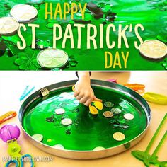 Patrick's Day! Hope your day was filled with all sorts of green goodness! 💚 Our youngest put all the leprechaun treasures he… Water Play For Kids, Activities For Kids, Crafts For Kids, Happy St Patricks Day, Another One, Leprechaun, Poker Table, Hope You, Kids Playing