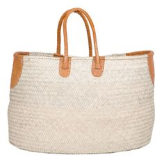 Handmade in Niger. Would make a perfect gift for your beach lover. Large Woven Palm Basket #fairtuesday
