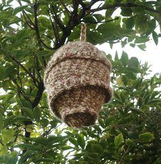 Crochet Hornet Nest, Faux Wasp Nest, European Hornet Home, Pesticide Free Repeller, Scare Away Bees and Hornets, Insect Nest, Florfanka