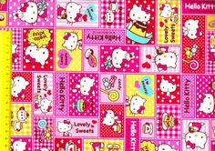 Hello Kitty fabric 1/2 yard $12.60