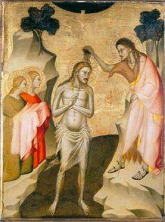Giovanni del Biondo - Pala del Battista (particolare) - c. 1360 - tempera e oro su tavola - collezione Contini Bonacossi, Galleria degli Uffizi, Firenze