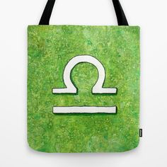 """Signe du Zodiaque : Balance / Zodiac sign : Libra"" Tote Bag by Savousepate - $22.00 #totebag #bag #zodiac #zodiacsign #astrology #green #libra"