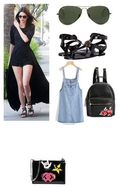 """""""My First Polyvore Outfit"""" by ferrerofrancy ❤ liked on Polyvore featuring Versace, Ray-Ban and Dsquared2"""