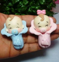 Cute Polymer Clay, Polymer Clay Dolls, Polymer Clay Miniatures, Polymer Clay Crafts, Polymer Clay Creations, Baby Shower Souvenirs, Fondant Baby, Baby Fairy, Clay Baby