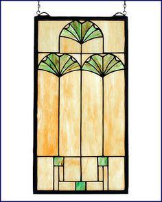 Mackintosh design     Ginko Leaf Stained Glass panel