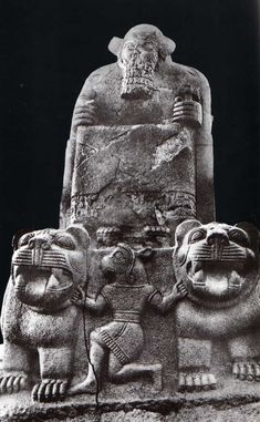 Hittite, Got Atarsuhas  and lions, 1180-700 BC, Museum of Anatolian Civilisations, Ankara