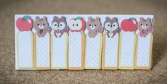 Sticky notes apple squirrel planner supplies