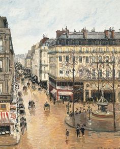 Camille Pissarro Pictures of Him | Camille Pissarro - Rue Saint-Honoré in the Afternoon. Effect of Rain ...