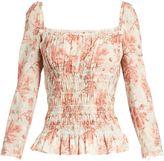 BROCK COLLECTION Taylor square-neck floral-print cotton top