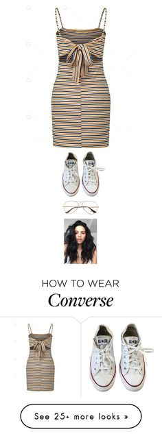 """""""Untitled #5536"""" by twerkinonmaz on Polyvore featuring Converse and Ray-Ban Outfits With Converse, Dressy Outfits, Cool Outfits, Basic Wear, Classic Looks, Capsule Wardrobe, Feminine, Street Style, My Style"""