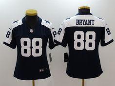 Nike Cowboys 88 Dez Bryant Navy Throwback Women Vapor Untouchable Player Limited Jersey