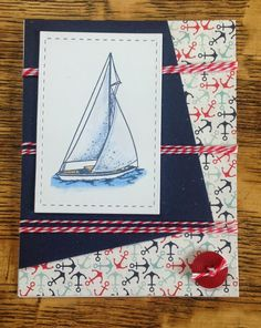 Stacy Stamps Carta Bella's Ahoy There paper Sue's Stamping Station