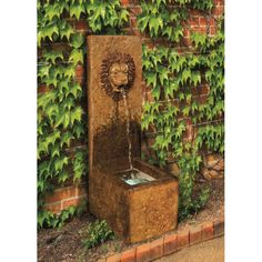 Henri Studio Lion Single Spout Outdoor Fountain - 4410F1-IV