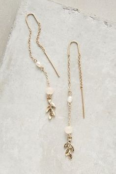 Anthropologie Classique Threaded Earrings #anthrofave