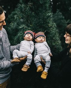 """We cant' get enough of this """"Twin Life"""" family. Beehive State Moccasins by Freshly Picked."""