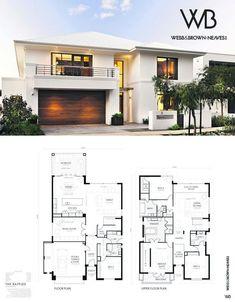 Home Design Drawing Modernes Haus plant Autocad Modern House Floor Plans, Dream House Plans, Modern House Design, Beautiful House Plans, Beautiful Homes, Beautiful Beautiful, Autocad, Bedroom House Plans, Architect House