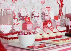 Cupid's Post Office dessert table