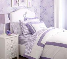 Lavender PB room - chevron sheets