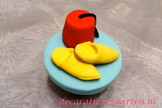 Cupcakes 'Besnijdenis - fes hoedje en slofjes' - detail 1