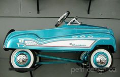 turquoise pedal car