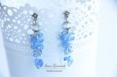 Earrings In the clouds  Jewelry  Gift  от JewelryFloren на Etsy, $25.00