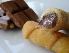 TEQUEÑOS DE CHOCOLATE. http://www.estampas.com/cocina-y-sabor/150717/los-irresistibles-tequenos   Los irresistibles tequeños - Cocina y Sabor