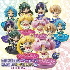 Petit Chara! Sailor Moon Figure Set Outer Sailor Senshi Glitter ver.