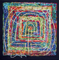 Abstract mosaics inspired by math and science by mosaic artist, Cynthia Fisher - B I G B A N G M O S A I C S