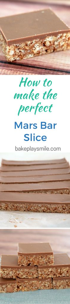 This 5 Ingredient Mars Bar Slice is so simple and delicious. Yummy Treats, Sweet Treats, Yummy Food, Mars Bar Slice, No Bake Slices, Cake Stall, Biscuits, Christmas Baking, Tray Bakes